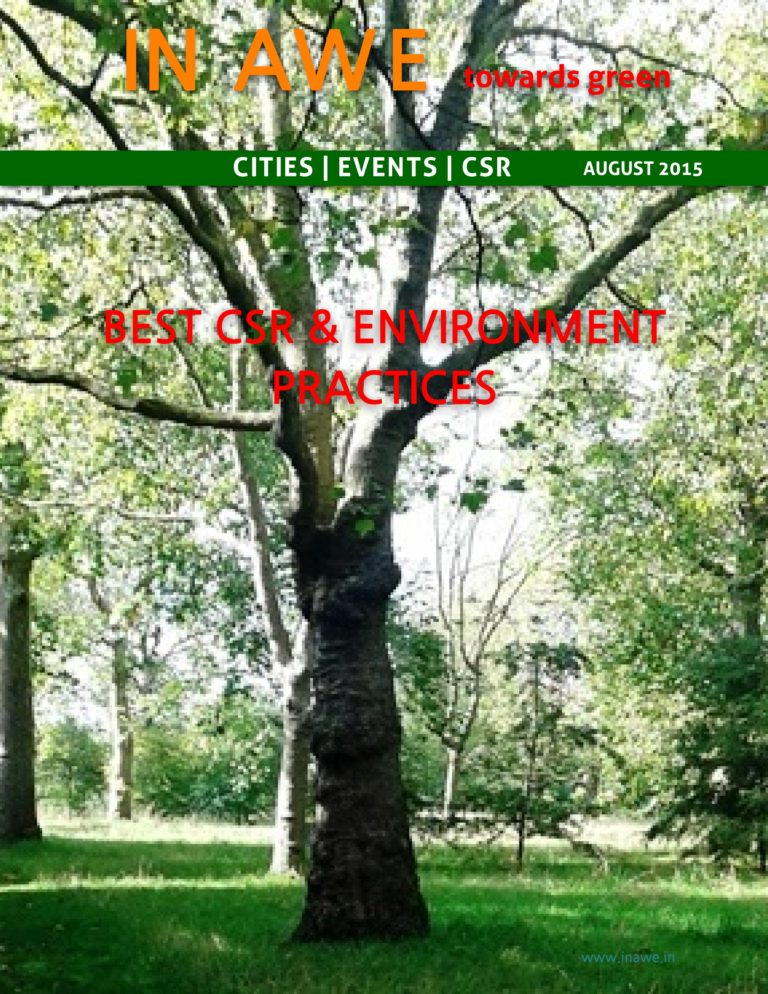 In AWE August 2015 Best CSR & Environment Practices