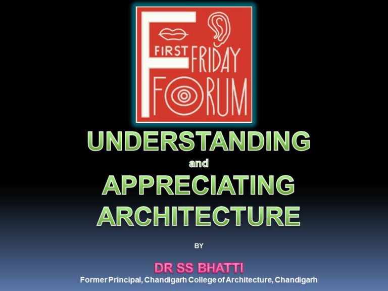 Understanding and Appreciating Architecture By Dr. S.S Bhatti
