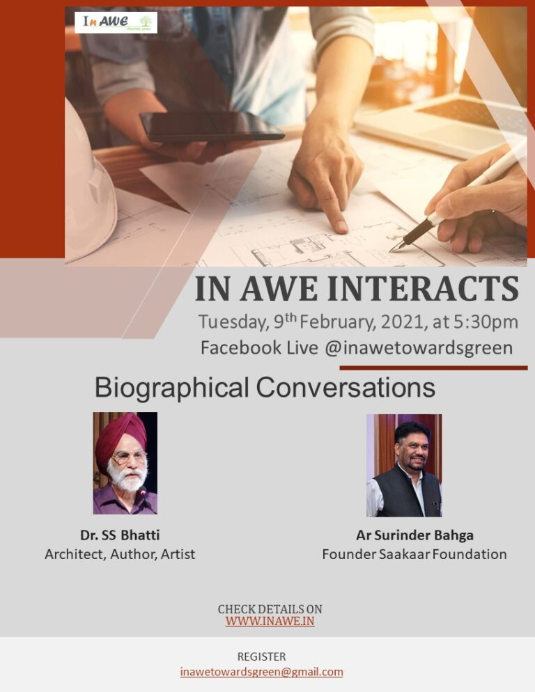 In AWE Interacts- Biographical Conversations, on 9th February, 2021, at 5:30 pm