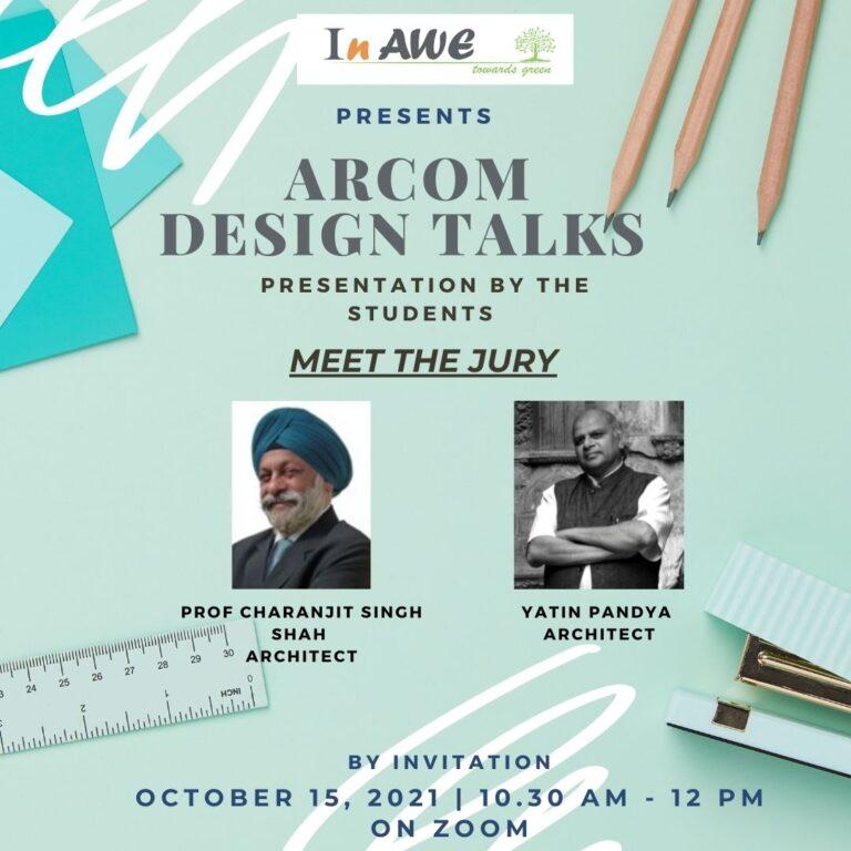 ARCOM DESIGN TALKS – 15th October,2021